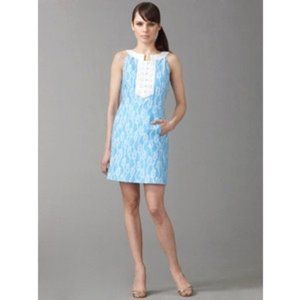 Lilly Pulitzer 14 Row Your Boat blue shift dress